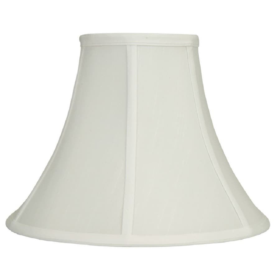 Shop Allen Roth 9 5 In X 12 5 In White Fabric Bell Lamp