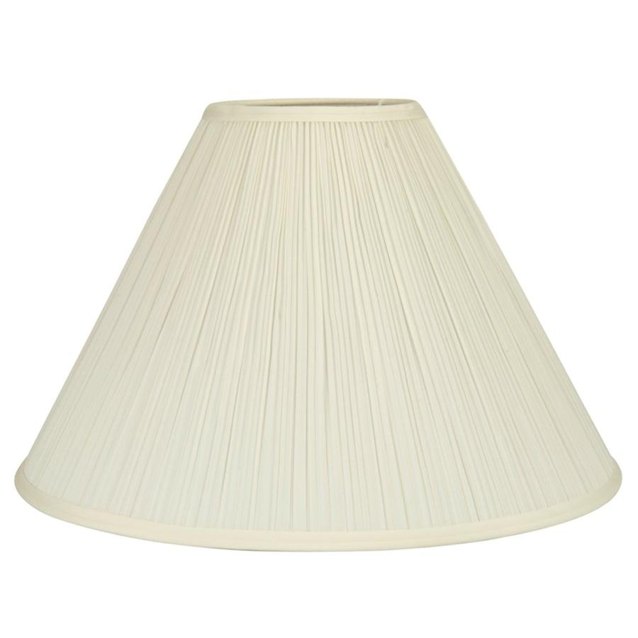 allen + roth 12.5-in x 18-in Cream Fabric Cone Lamp Shade