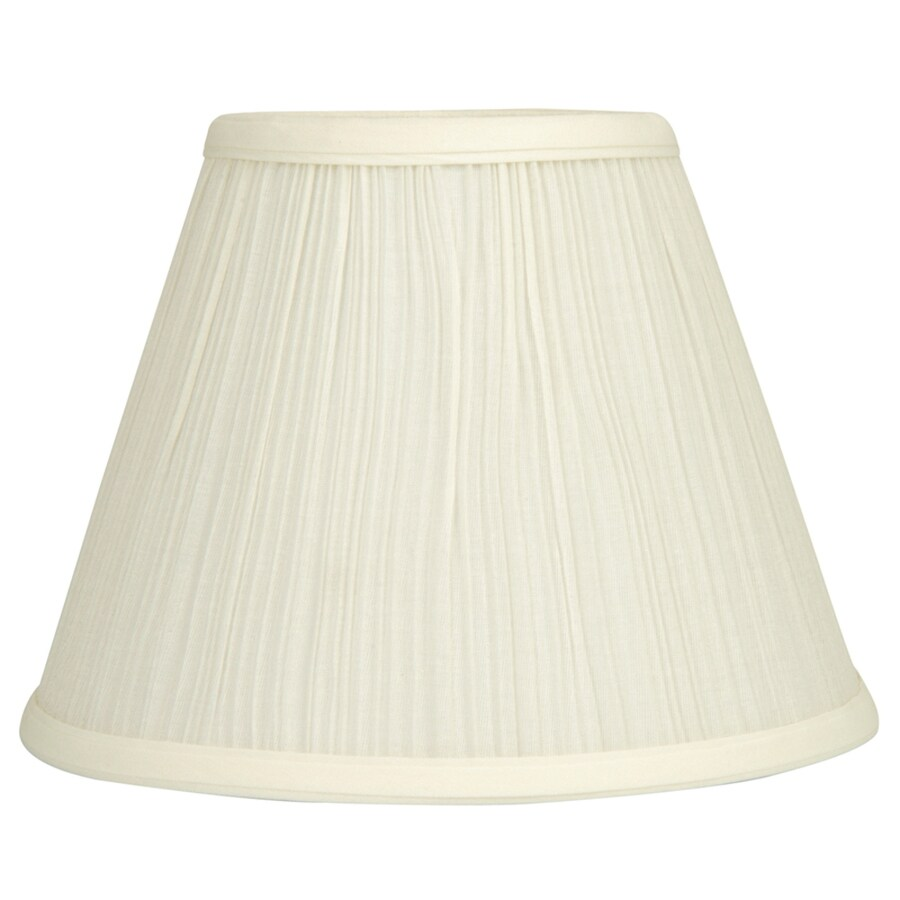 allen + roth 7.5-in x 10-in Cream Fabric Cone Lamp Shade
