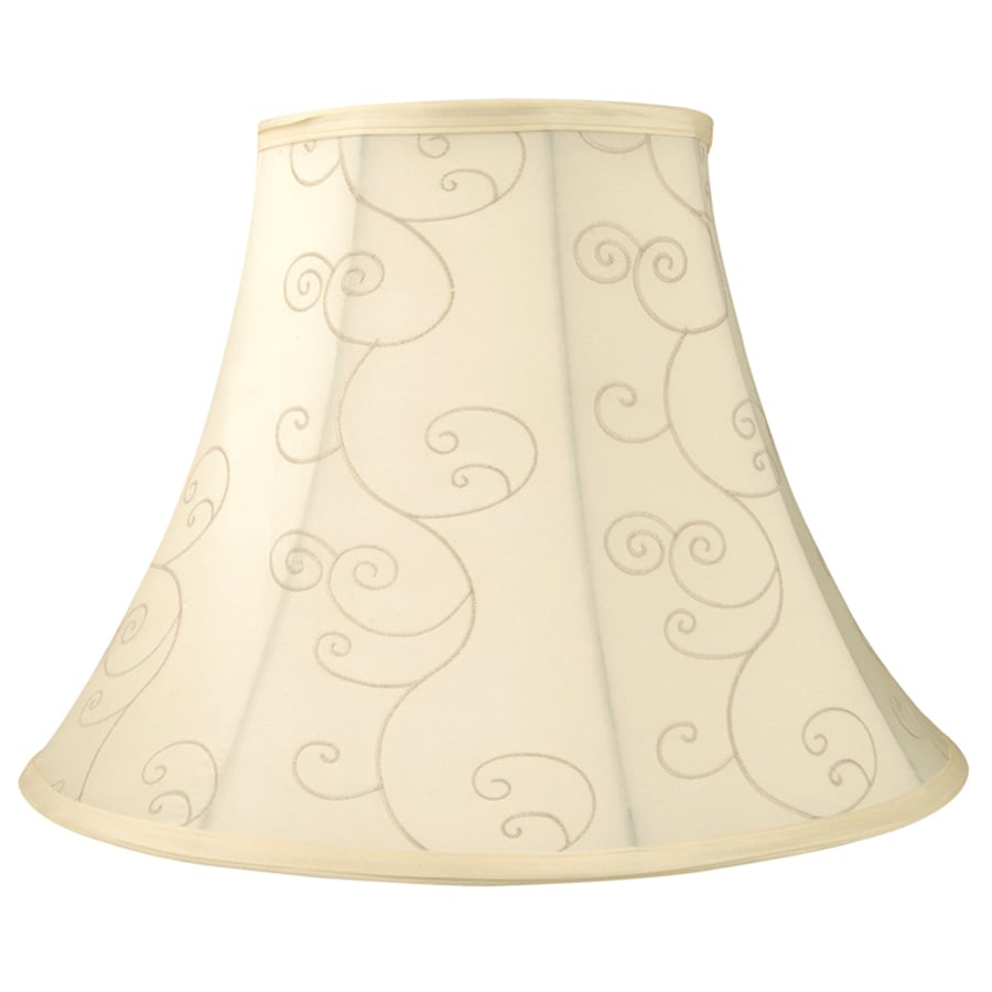 allen + roth 12.5-in x 17-in Beige Fabric Bell Lamp Shade