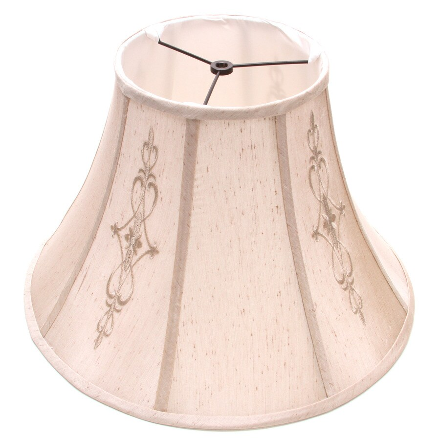 allen + roth 17.7-in x 17.9-in Beige Fabric Bell Lamp Shade