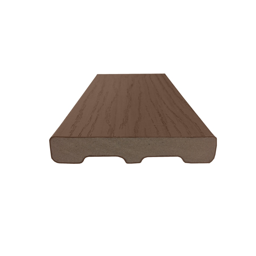 Style Selections Beechwood Brown Composite Deck Board (Actual: 0.925-in x 5.25-in x 8-ft)