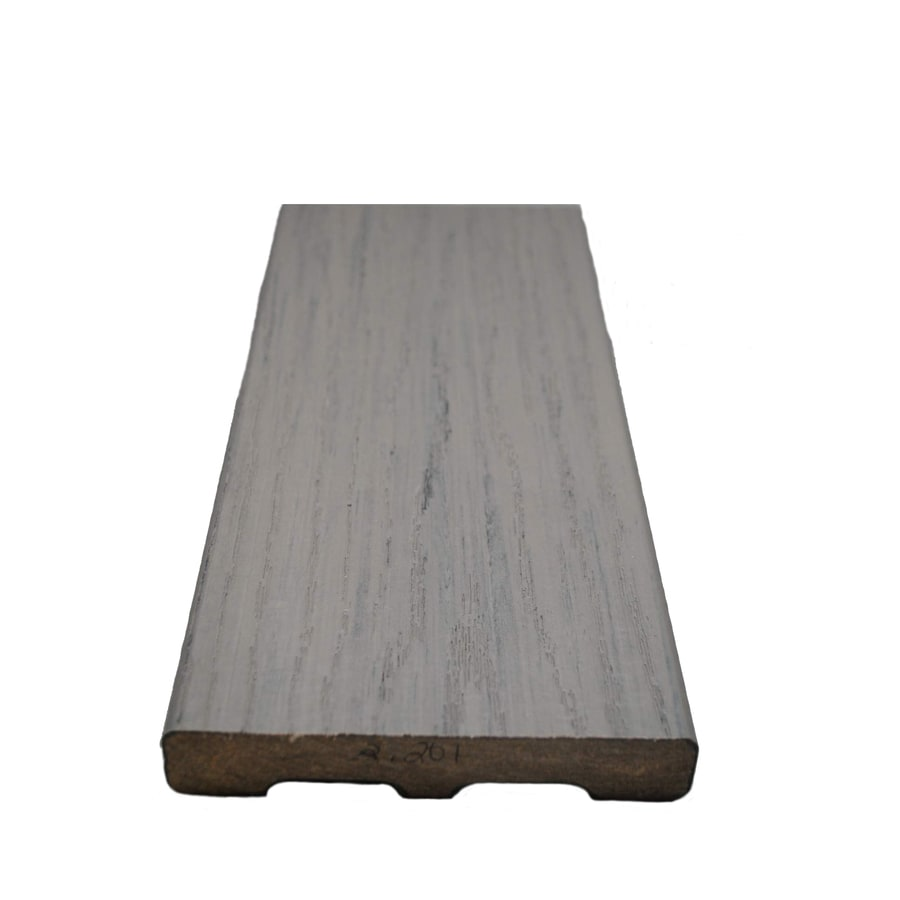 Style Selections Fieldstone Gray Groove Composite Deck Board (Actual: 0.925-in x 5.25-in x 12-ft)