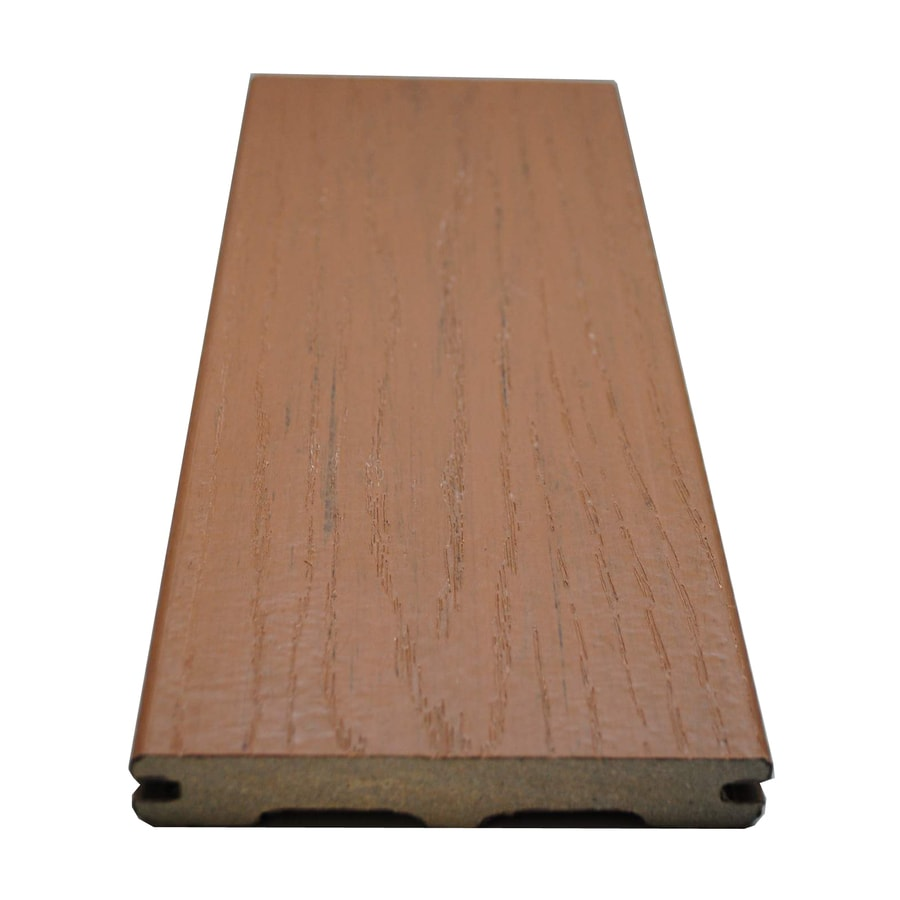 Style Selections Beechwood Brown Groove Composite Deck Board (Actual: 0.925-in x 5.25-in x 20-ft)