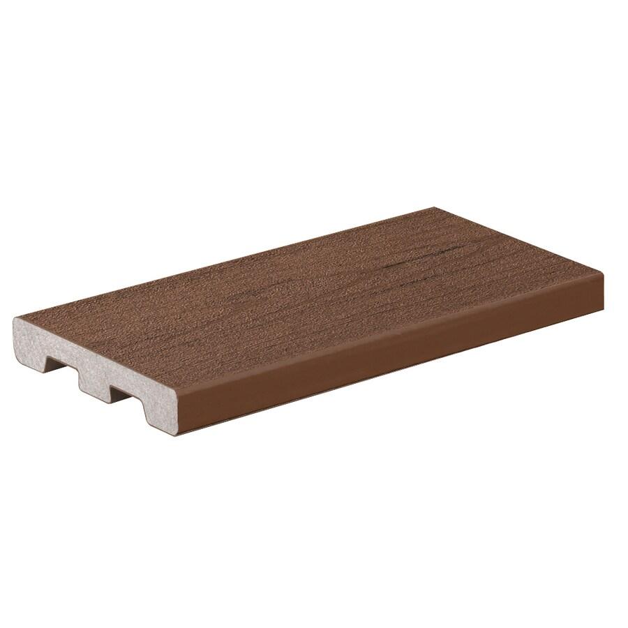 Shop timbertech brown oak composite deck board actual 0 for Composite decking boards