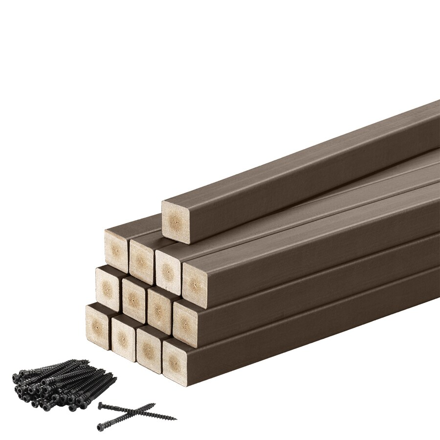 TimberTech Contemporary Traditional Walnut Composite Deck Baluster (Actual: 1.25-in x 1.25-in x 30.25-in)