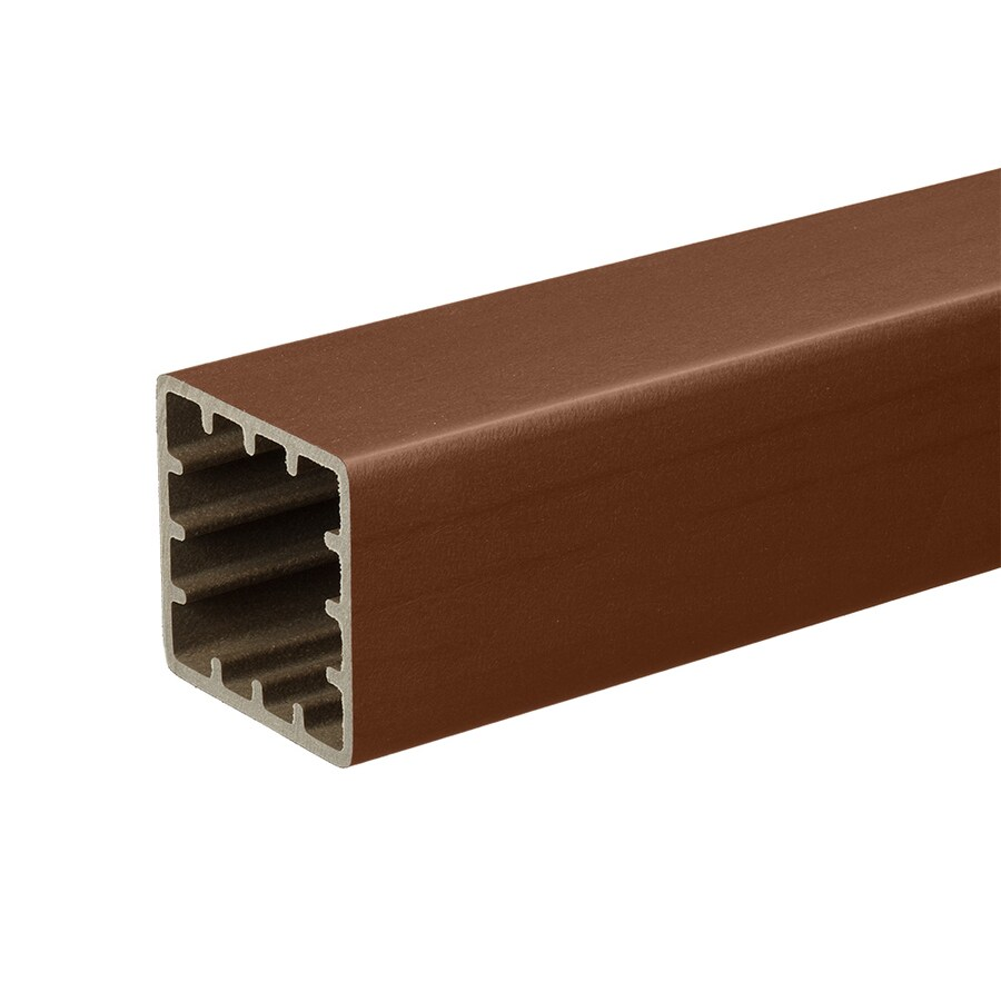TimberTech Evolutions Rail Brick Composite Deck Post Sleeve (Fits Common Post Measurement: 5-in x 5-in; Actual: 5-in x 5-in x 42-in)