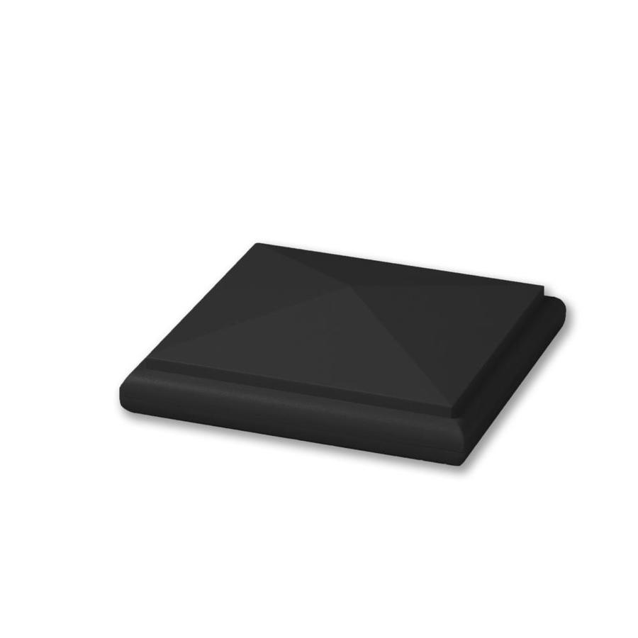 AZEK Black Composite Deck Post Cap (Fits Common Post Measurement: 5-1/2-in x 5-1/2-in; Actual: 2-in x 6-in x 6-in)