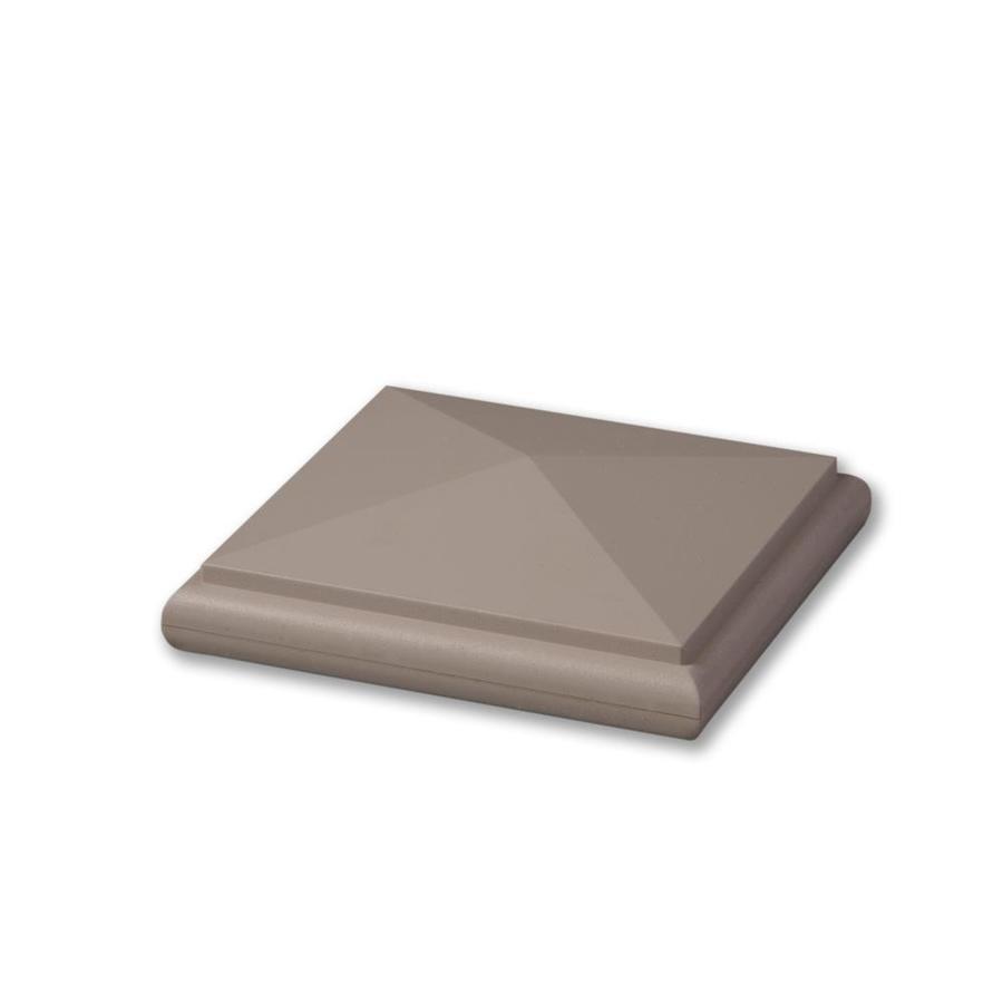 AZEK Slate Gray Composite Deck Post Cap (Fits Common Post Measurement: 5-1/2-in x 5-1/2-in; Actual: 2-in x 6-in x 6-in)
