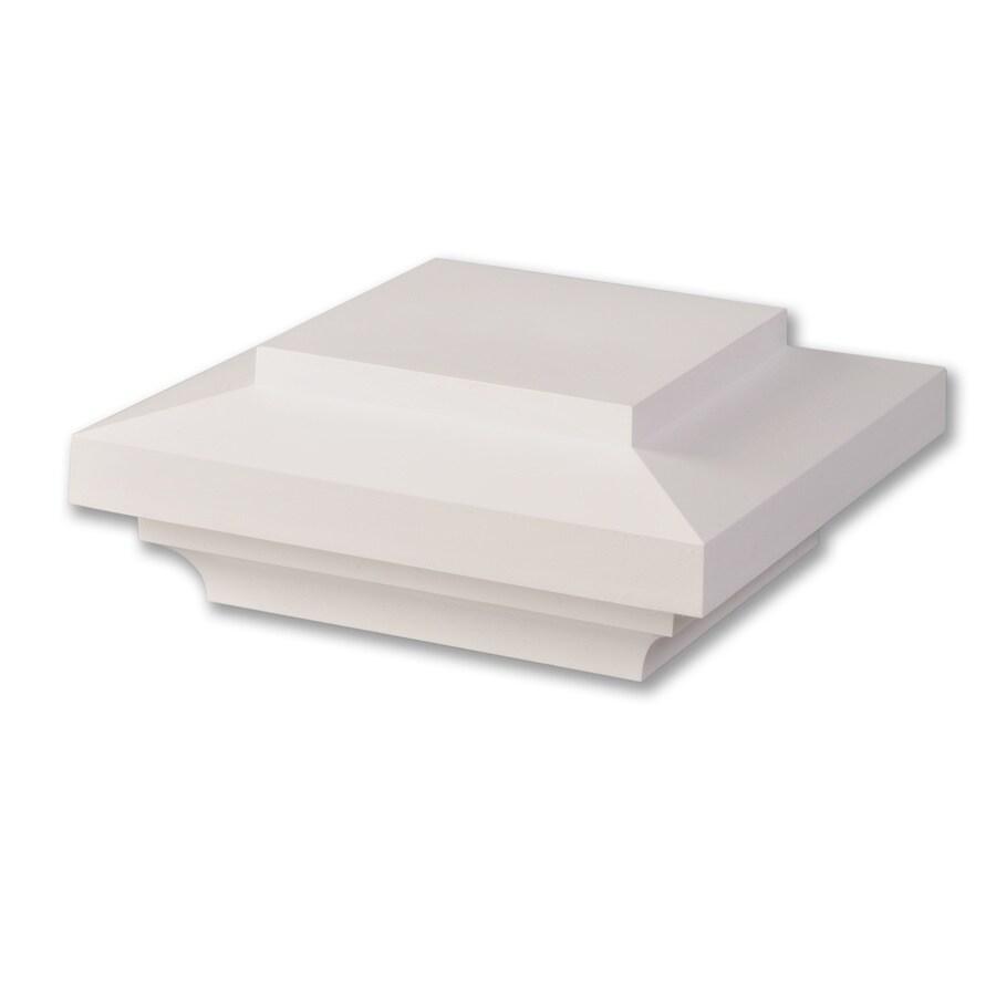 AZEK White Composite Deck Post Cap (Fits Common Post Measurement: 5-1/2-in x 5-1/2-in; Actual: 4-in x 9-in x 9-in)