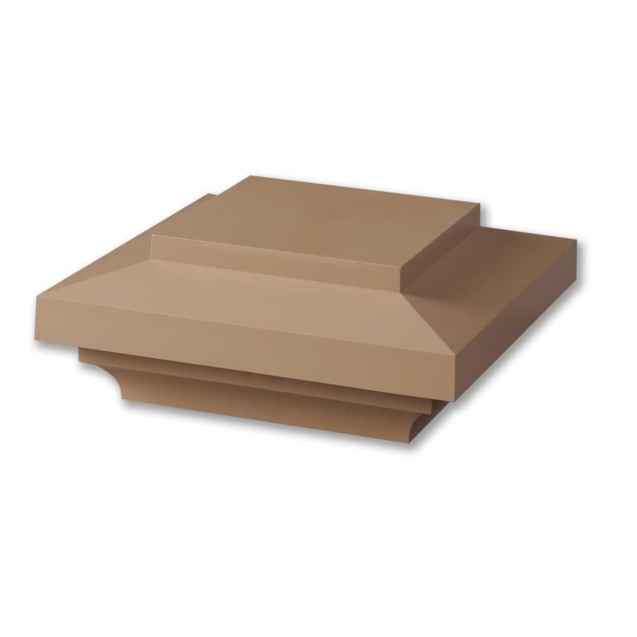 AZEK Brownstone Composite Deck Post Cap (Fits Common Post Measurement: 5-1/2-in x 5-1/2-in; Actual: 4-in x 9-in x 9-in)