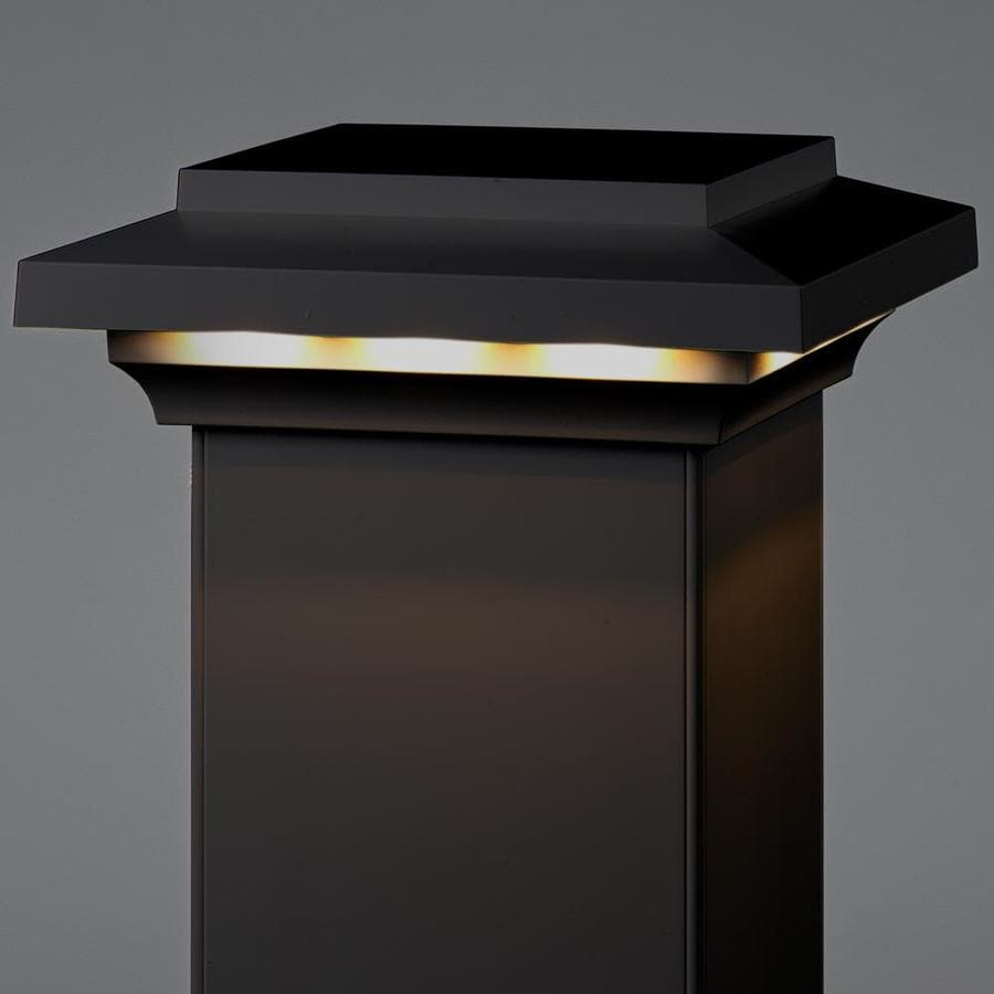 AZEK Black Voltage LED Composite Deck Post Cap (Fits Common Post Measurement: 5-1/2-in x 5-1/2-in; Actual: 3.5-in x 8-in x 8-in)