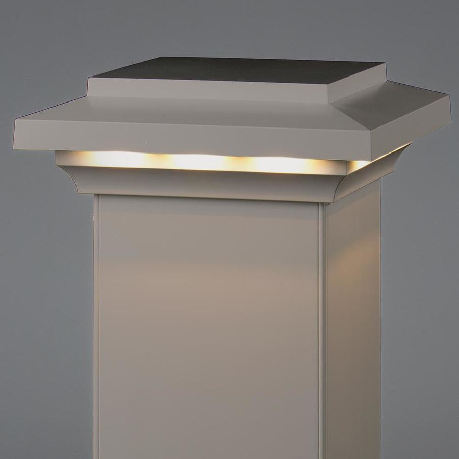 AZEK Slate Gray Voltage LED Composite Deck Post Cap (Fits Common Post Measurement: 5-1/2-in x 5-1/2-in; Actual: 3.5-in x 8-in x 8-in)