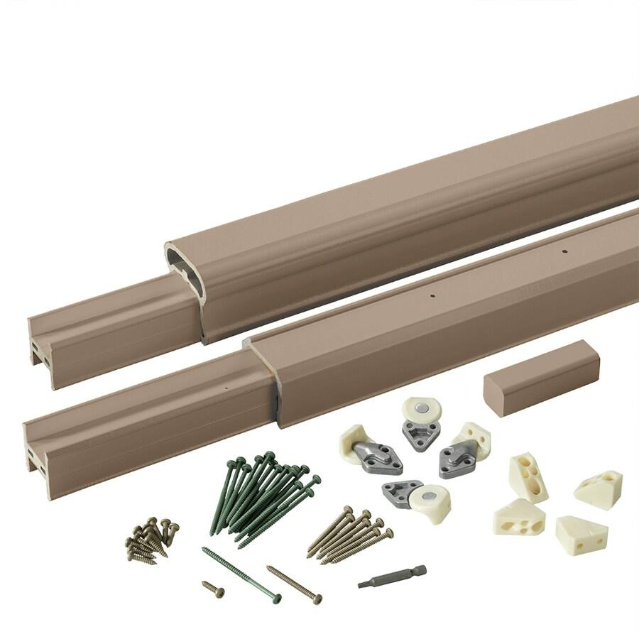 TimberTech Radiancerail Brownstone Composite Deck Railing Kit (Assembled: 8-ft x 3-ft)