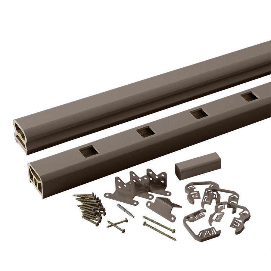 TimberTech Radiancerail Express Kona Composite Deck Railing Kit (Assembled: 6-ft x 3-ft)