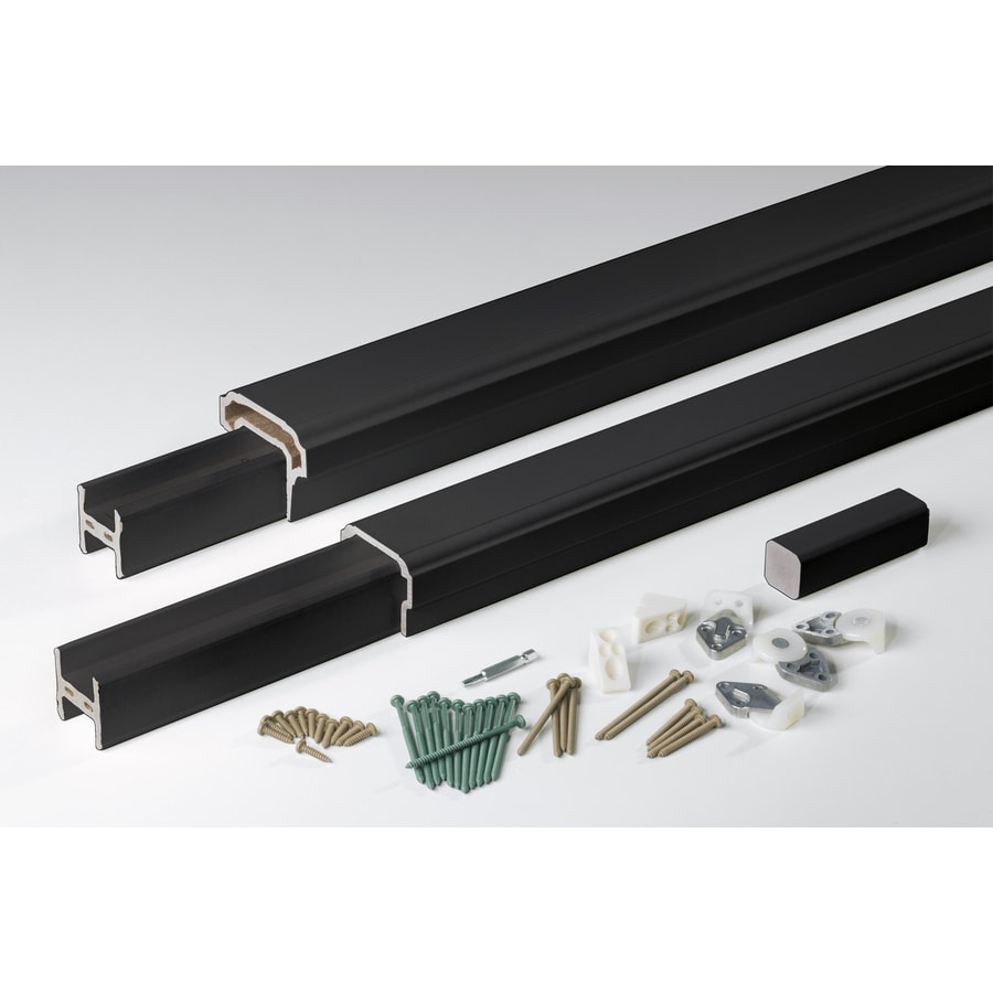 AZEK Premier Rail Black Composite Deck Railing Kit (Assembled: 8-ft x 3-ft)