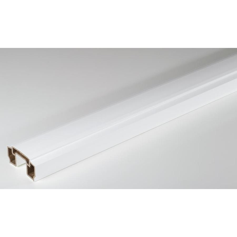 AZEK Reserve Rail White Composite Deck Top Rail (Common: 6-ft; Actual: 2.3-in x 5.5-in x 6-ft)