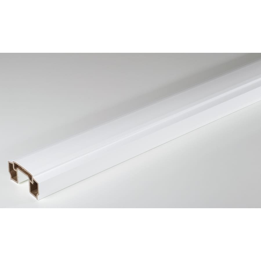 AZEK Reserve Rail White Composite Deck Top Rail (Common: 10-ft; Actual: 2.3-in x 5.5-in x 10-ft)