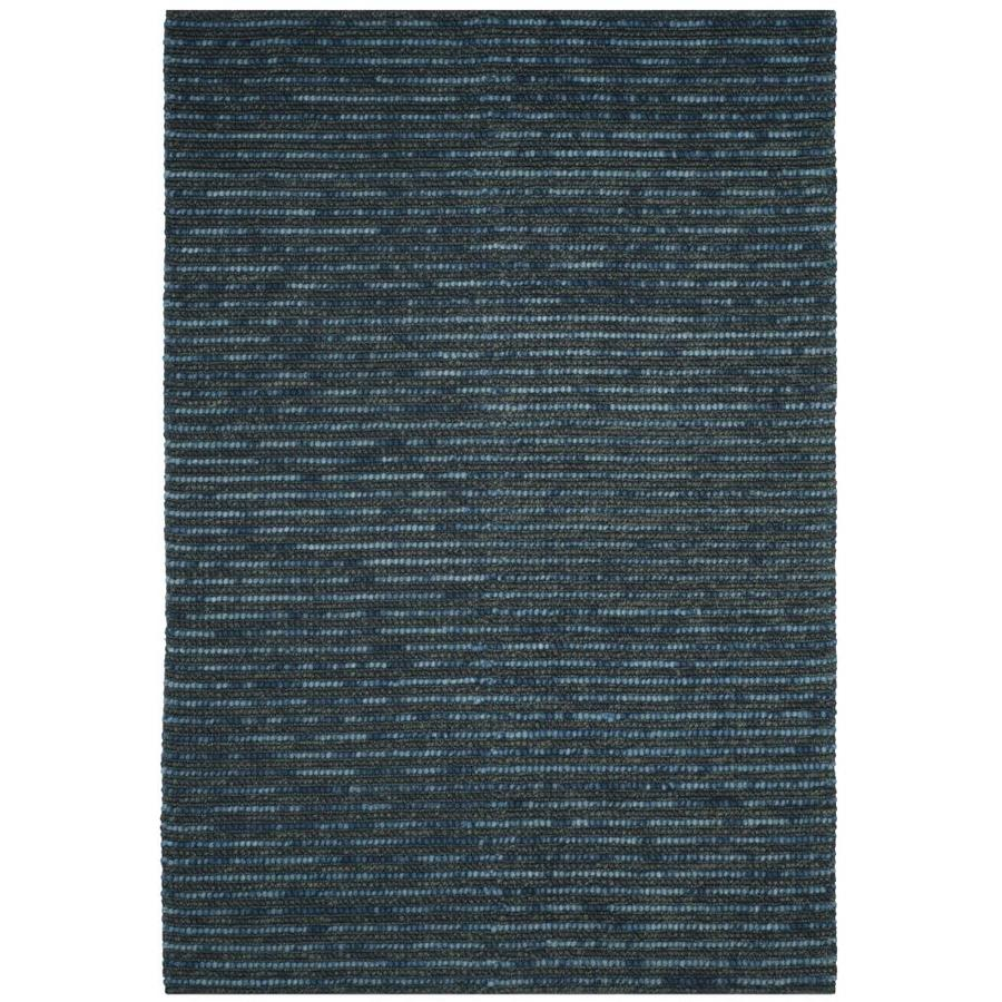 Safavieh Bohemian Dark Blue and Multicolor Rectangular Indoor Hand-Knotted Throw Rug (Common: 2 x 4; Actual: 30-in W x 48-in L x 0.42-ft Dia)