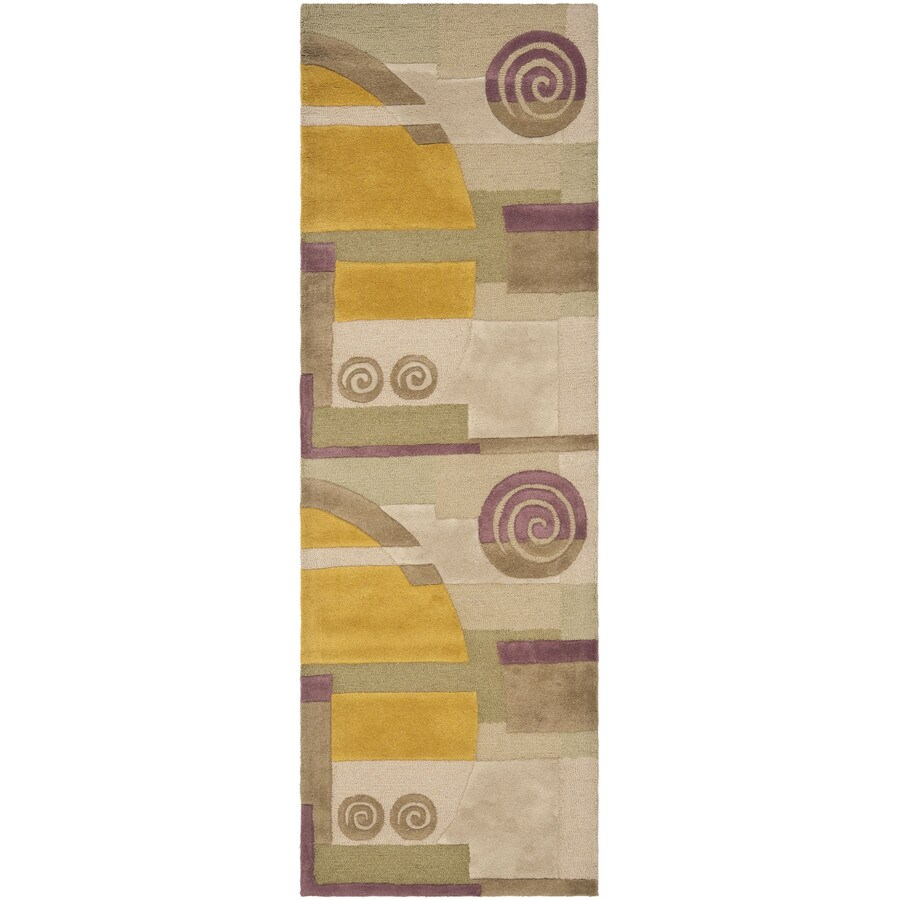 Safavieh Rodeo Drive Beige Rectangular Indoor Tufted Runner (Common: 2 x 8; Actual: 30-in W x 96-in L x 0.58-ft Dia)