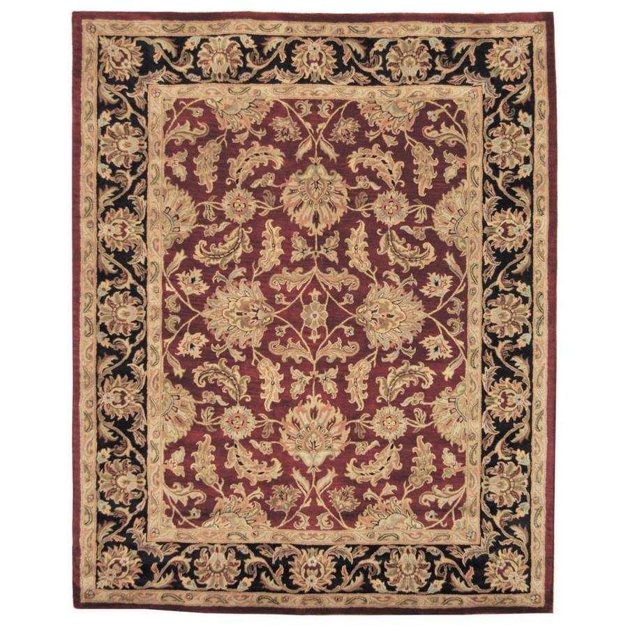 Safavieh Heritage Red and Black Rectangular Indoor Tufted Area Rug (Common: 8 x 11; Actual: 99-in W x 132-in L x 0.67-ft Dia)