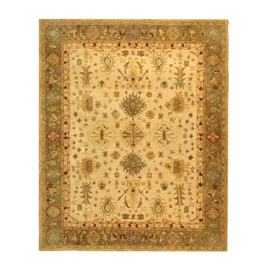 Safavieh Anatolia Rectangular White Transitional Tufted Wool Area Rug (Common: 8-ft x 10-ft; Actual: 8-ft x 10-ft)