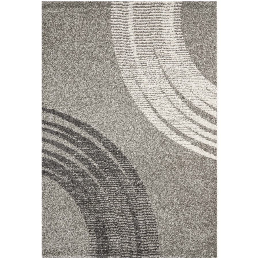 Safavieh Porcello Light Grey Rectangular Indoor Machine-Made Area Rug (Common: 8 x 11; Actual: 96-in W x 134-in L x 0.92-ft Dia)