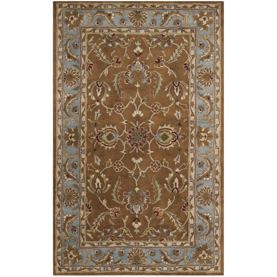 Safavieh Heritage Brown and Blue Rectangular Indoor Tufted Area Rug (Common: 5 x 8; Actual: 60-in W x 96-in L x 0.58-ft Dia)