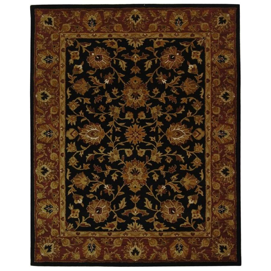 Safavieh Heritage Black and Red Rectangular Indoor Tufted Area Rug (Common: 8 x 11; Actual: 99-in W x 132-in L x 0.67-ft Dia)