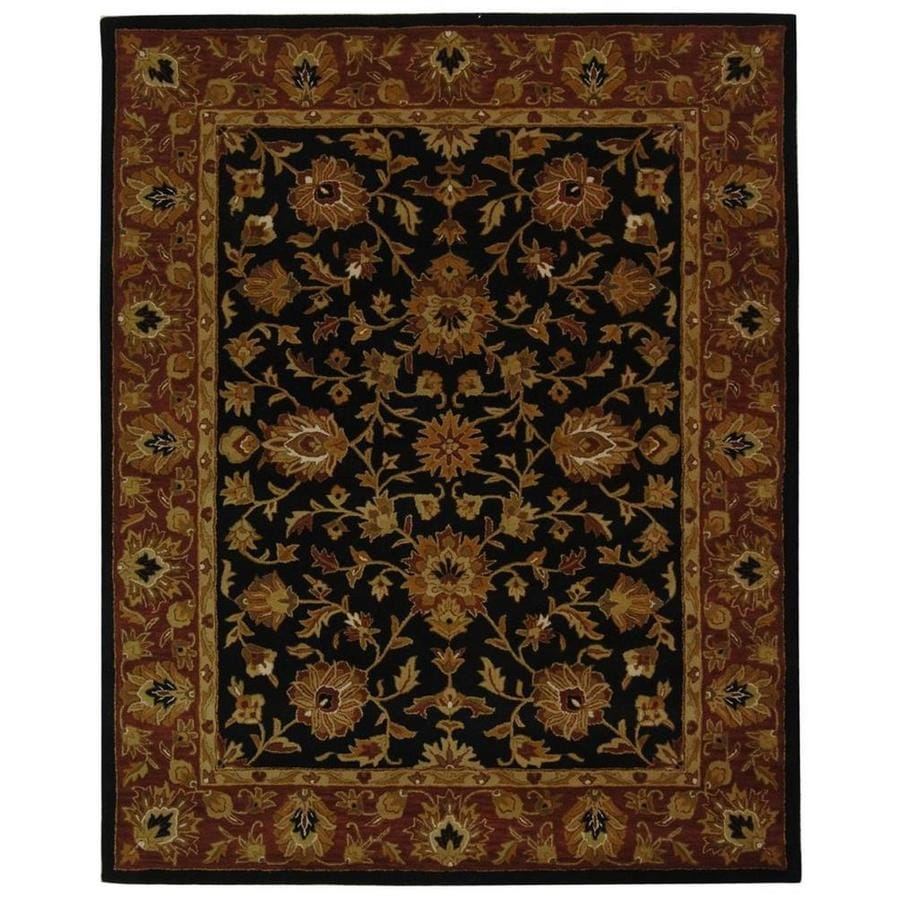 Safavieh Heritage Black and Red Rectangular Indoor Tufted Area Rug (Common: 8 x 10; Actual: 90-in W x 114-in L x 0.67-ft Dia)