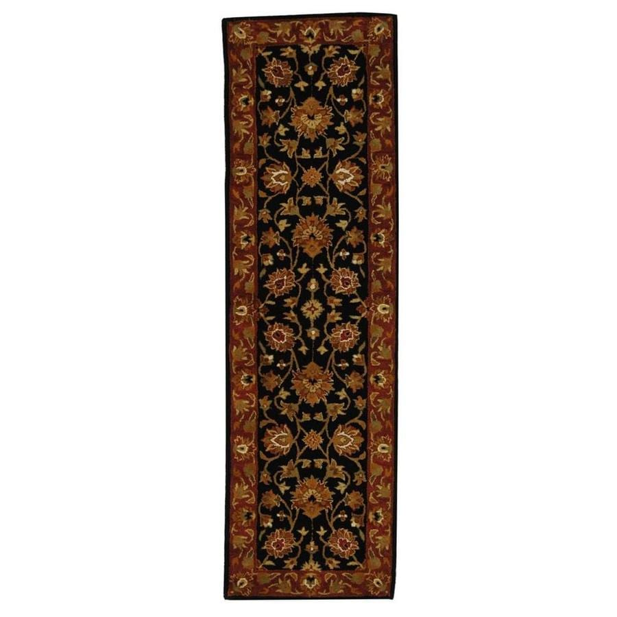 Safavieh Heritage Black and Red Rectangular Indoor Tufted Runner (Common: 2 x 8; Actual: 27-in W x 96-in L x 0.58-ft Dia)
