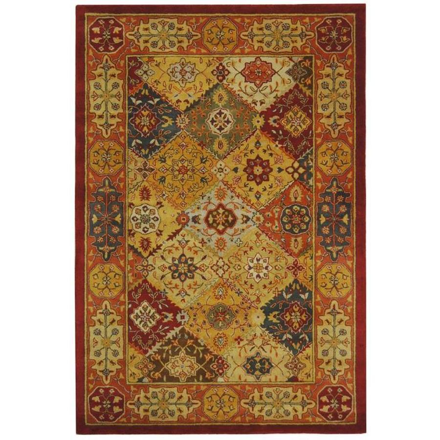 Safavieh Heritage Multicolor Rectangular Indoor Tufted Area Rug (Common: 6 x 9; Actual: 72-in W x 108-in L x 0.67-ft Dia)