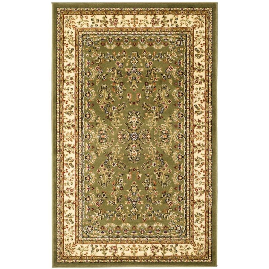 Safavieh Lyndhurst Sage and Ivory Rectangular Indoor Machine-Made Throw Rug (Common: 3 x 5; Actual: 39-in W x 63-in L x 0.42-ft Dia)