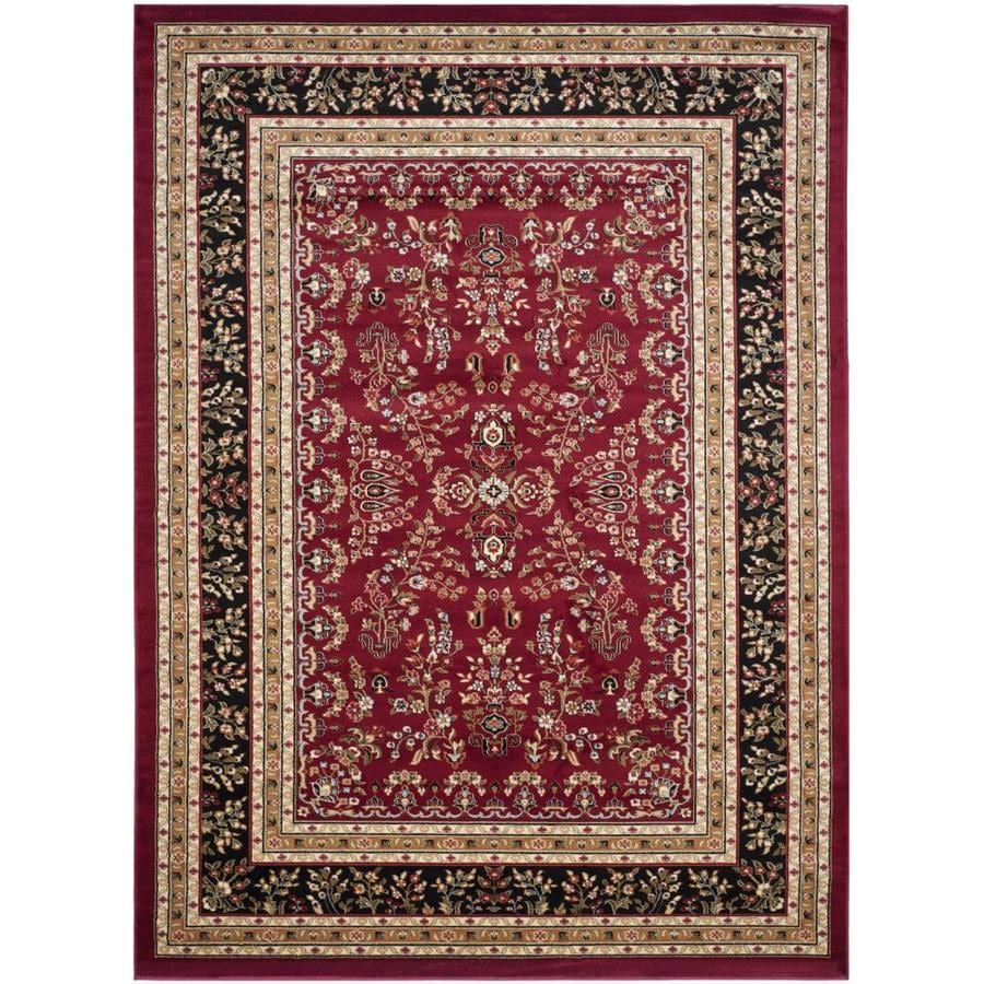 Safavieh Lyndhurst Red and Black Rectangular Indoor Machine-Made Area Rug (Common: 8 x 10; Actual: 96-in W x 132-in L x 0.58-ft Dia)