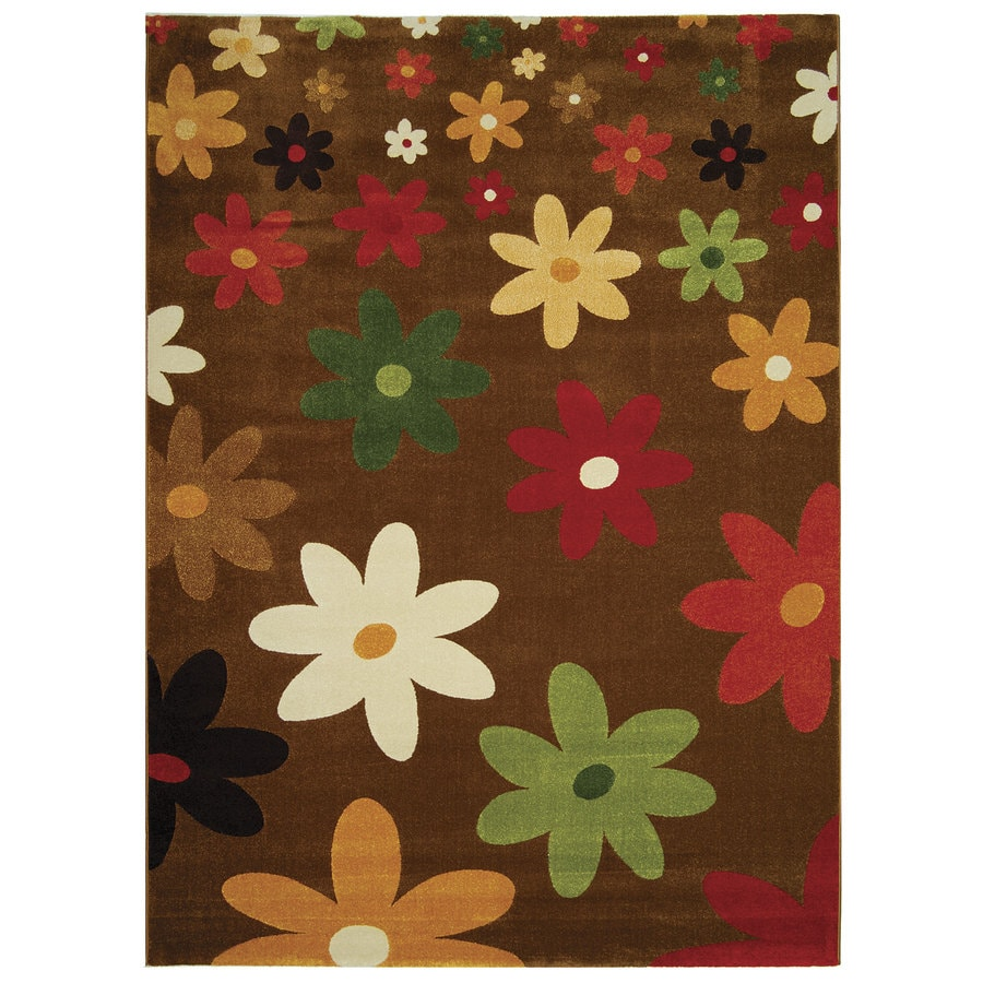 Safavieh Porcello Assorted Rectangular Indoor Machine-Made Throw Rug (Common: 3 x 5; Actual: 31-in W x 60-in L x 0.42-ft Dia)