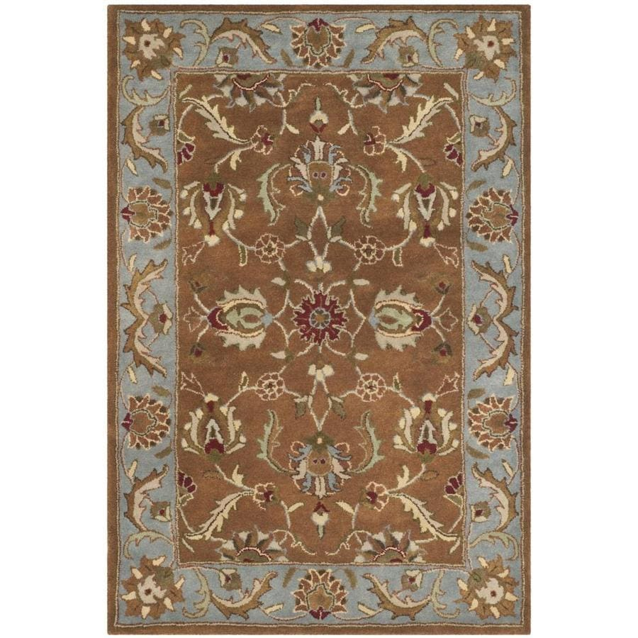 Safavieh Heritage Brown and Blue Rectangular Indoor Tufted Area Rug (Common: 4 x 6; Actual: 48-in W x 72-in L x 0.5-ft Dia)