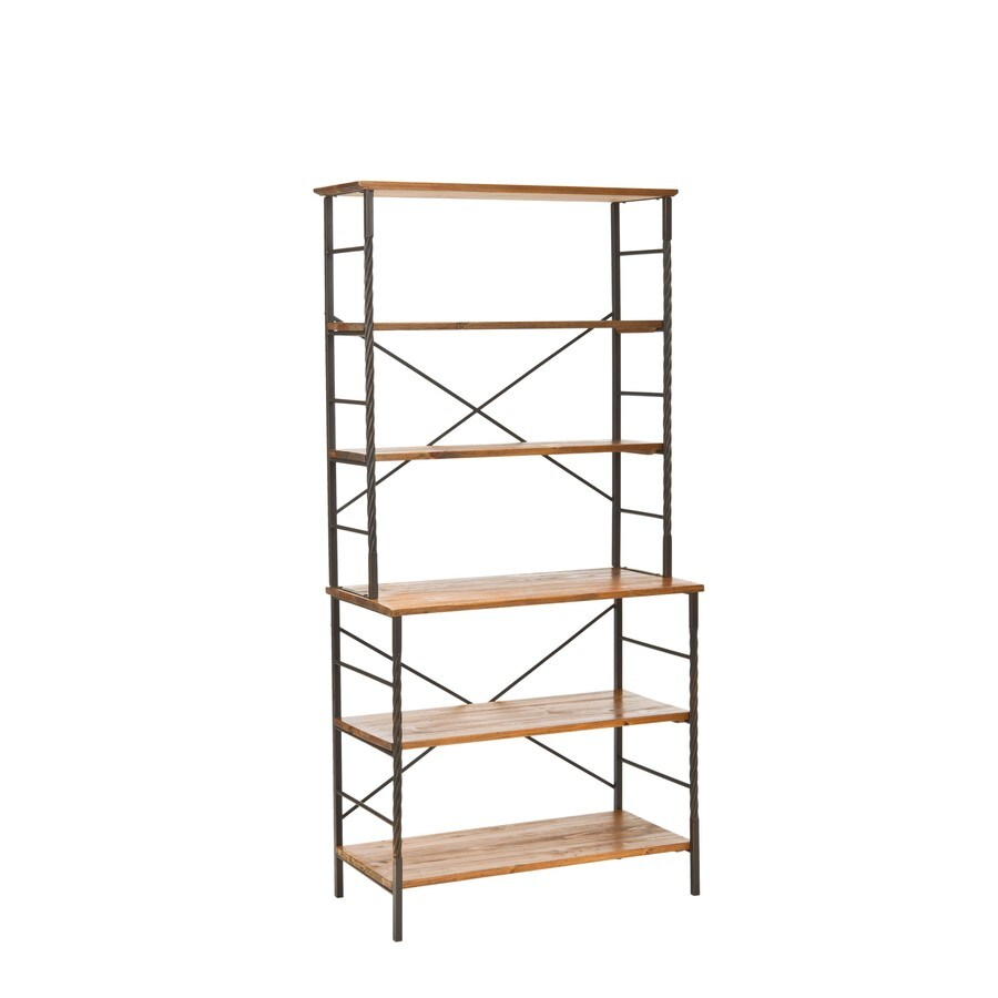 Safavieh American Home Sienna 36.6-in W x 77.2-in H x 18.1-in D 5-Shelf Bookcase