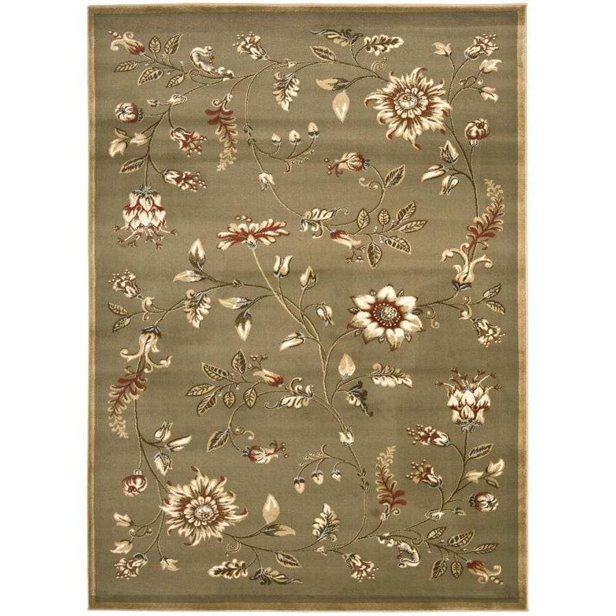 Safavieh Lyndhurst Green and Multicolor Rectangular Indoor Machine-Made Area Rug (Common: 6 x 9; Actual: 79-in W x 114-in L x 0.67-ft Dia)