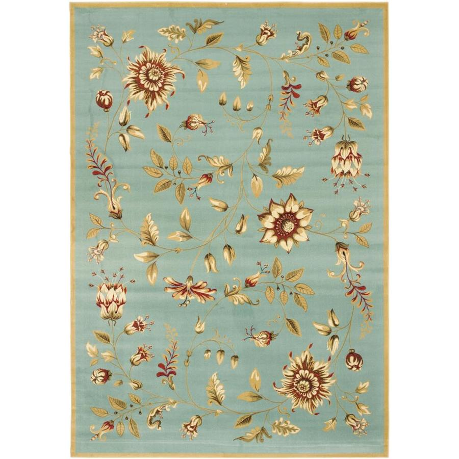 Safavieh Lyndhurst Blue and Multicolor Rectangular Indoor Machine-Made Area Rug (Common: 6 x 9; Actual: 79-in W x 114-in L x 0.67-ft Dia)