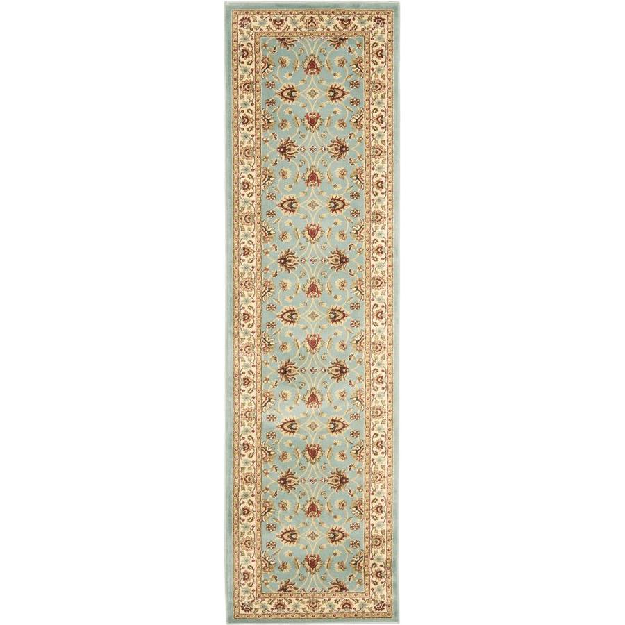 Safavieh Lyndhurst Blue and Ivory Rectangular Indoor Machine-Made Runner (Common: 2 x 16; Actual: 27-in W x 192-in L x 0.5-ft Dia)