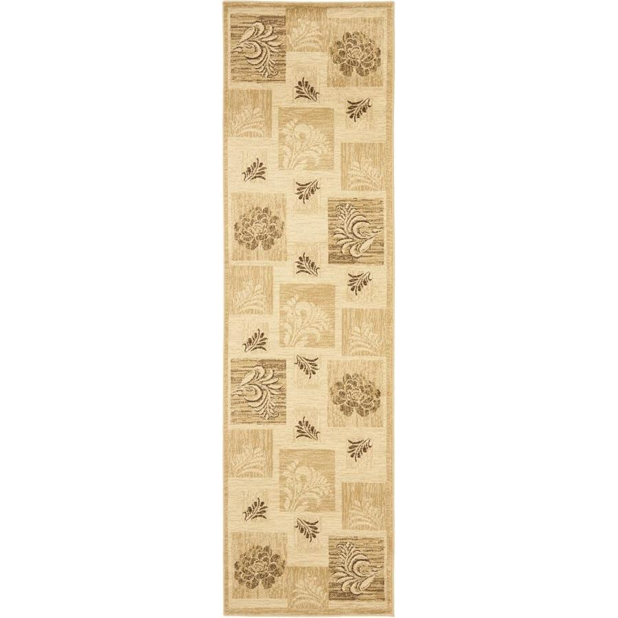Safavieh Lyndhurst Ivory and Multicolor Rectangular Indoor Machine-Made Runner (Common: 2 x 16; Actual: 27-in W x 192-in L x 0.5-ft Dia)