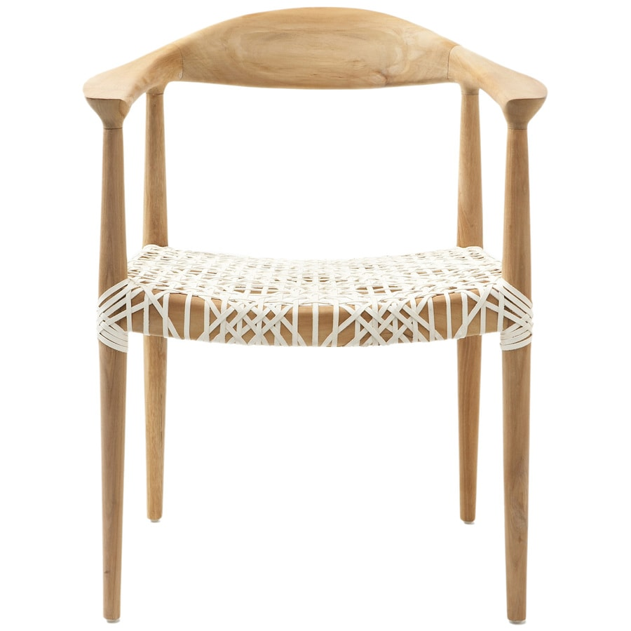 Safavieh Set of 2 American Home Natural/White Side Chairs
