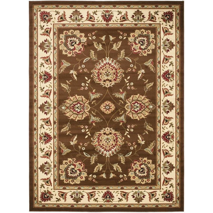 Safavieh Lyndhurst Brown and Ivory Rectangular Indoor Machine-Made Area Rug (Common: 6 x 9; Actual: 79-in W x 114-in L x 0.67-ft Dia)