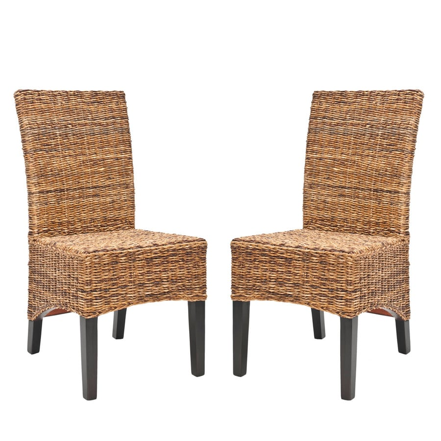 Safavieh Set of 2 Fox Multi Browns/ Natural Side Chairs