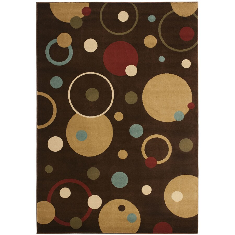 Safavieh Porcello Brown and Multicolor Rectangular Indoor Machine-Made Area Rug (Common: 4 x 6; Actual: 48-in W x 67-in L x 0.42-ft Dia)