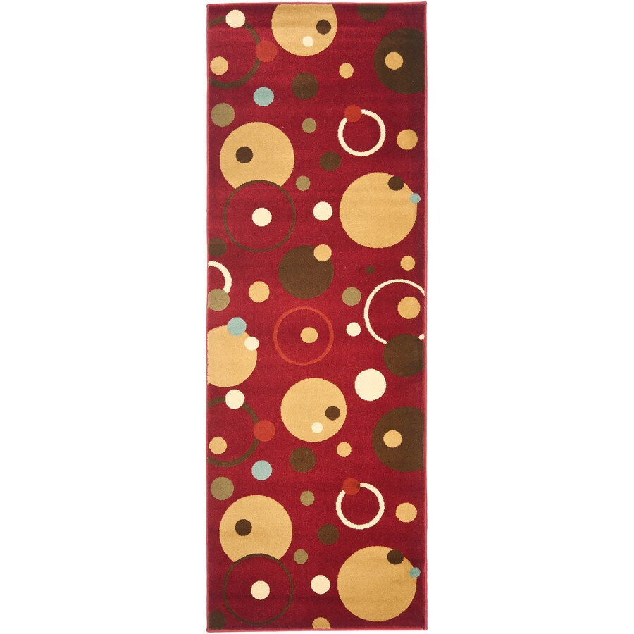 Safavieh Porcello Red and Multicolor Rectangular Indoor Machine-Made Runner (Common: 2 x 9; Actual: 28-in W x 108-in L x 0.67-ft Dia)
