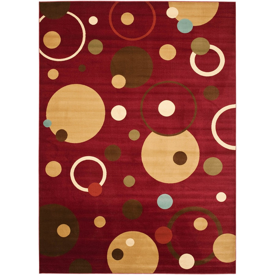 Safavieh Porcello Red and Multicolor Rectangular Indoor Machine-Made Throw Rug (Common: 3 x 5; Actual: 31-in W x 60-in L x 0.42-ft Dia)