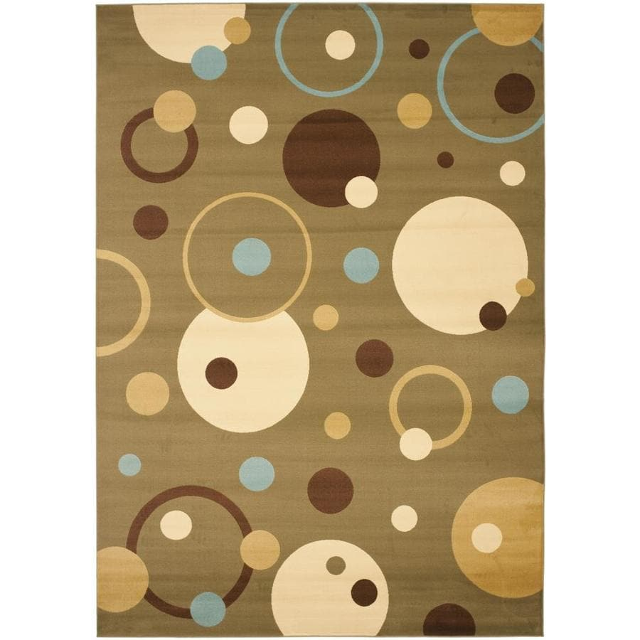 Safavieh Porcello Green and Multicolor Rectangular Indoor Machine-Made Area Rug (Common: 8 x 10; Actual: 96-in W x 134-in L x 0.92-ft Dia)