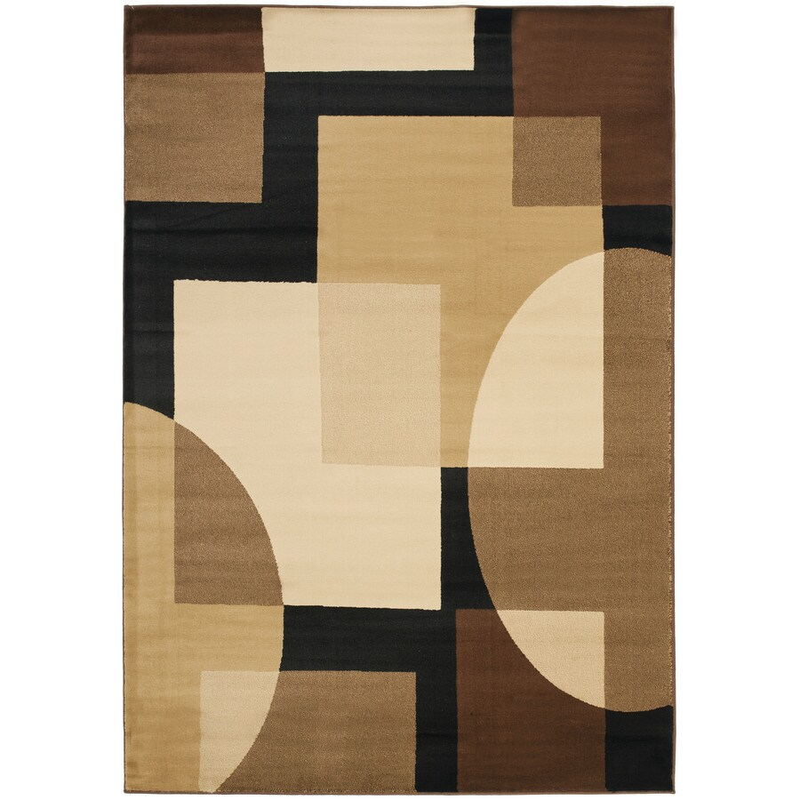 Safavieh Porcello Black and Multicolor Rectangular Indoor Machine-Made Area Rug (Common: 5 x 8; Actual: 63-in W x 91-in L x 0.67-ft Dia)