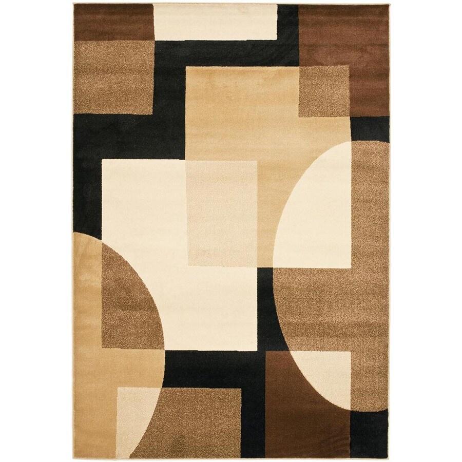 Safavieh Porcello Black and Multicolor Rectangular Indoor Machine-Made Area Rug (Common: 8 x 10; Actual: 96-in W x 134-in L x 0.92-ft Dia)